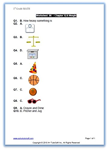Workbook first grade worksheets pdf : Amazon.com: 1st Grade Math Workbook (PDF) on CD (Worksheets, Tests ...