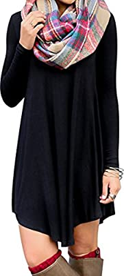 For G&PL Women's Long Sleeve Casual Loose T-Shirt Dress