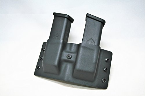 (Code 4 Defense Double Kydex Magazine Carrier- Kydex Magazine Holster- Fits Double Stack 9mm/40cal magazines)