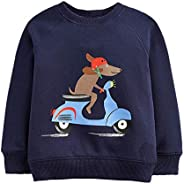 Eledobby Toddler Baby Girl Boy Sweatshirt Kids Casual Winter Cotton Warm Long Sleeves Pullover Top Clothes