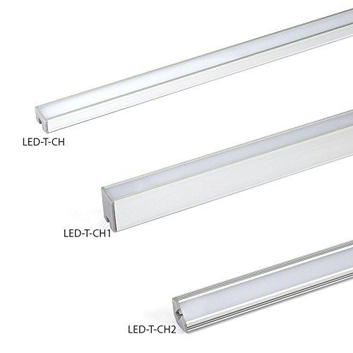 WAC Lighting LED-T-CH1 Contemporary Deep Aluminum Tape Light Channel