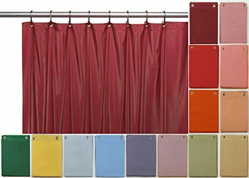 Elegant Home Heavy Duty Vinyl Shower Curtain Liner with 12 Metal Grommets Burgundy