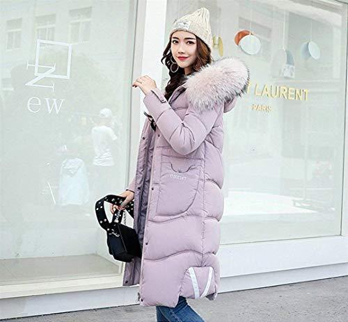 Rose Manteau De Capuche Femme Fermeture Manche Transition Doudoune Uni Manteau Manches Mode Longues Jeune Vtements Uni Mode Manche clair A Avant avec Poches Hiver Veste xnIIqpS