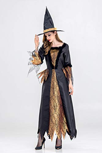 MY Halloween Costume Night Wandering Soul Female Witch Dress Nightclub Rave Party Costume for Women (Size : L) ()