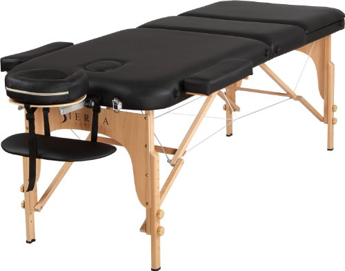 Sierra Comfort Relax Portable Massage Table, Black