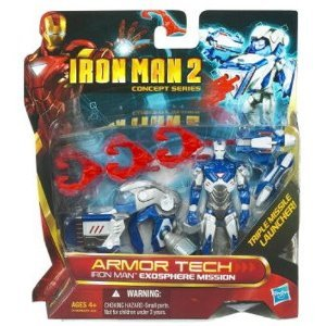 - Iron Man 2 Movie Armor Tech Deluxe Action Figure Exosphere Mission
