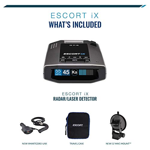 ESCORT IX - Laser Radar Detector, Auto Learn Protection, Extreme Long-Range, Bluetooth, Voice Alerts, OLED Display, Escort Live! from Escort