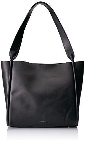 Skagen Karalie Leather Shopper, Black