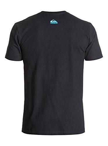 Quiksilver Men's Everyday Active T-Shirt, Black/Blue, XX-Large