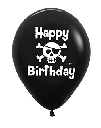 PIRATE Skull Sword Eye Patch Design Happy Birthday Party 11