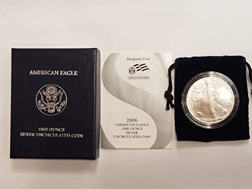 2006 W American Eagle One Ounce Silver Burnished Coin Burnished Silver American Eagle $1 BU US Mint ()