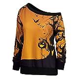 Orangeskycn Clearance Sale Halloween Womens Pullover Pumpkin Printed Sweatshirt