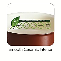 Tramontina 80110/048DS Style Ceramica 01 Covered Sauce Pan, 1.5-Quart, Metallic Copper