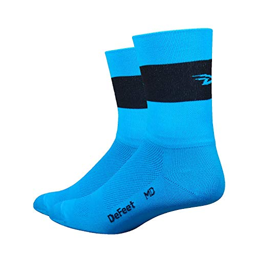 - DeFeet Aireator Team Double Cuff Socks, Neon Blue, Large