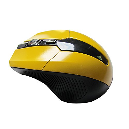 - yunbox299 Wireless Mouse Mice, 2.4GHz Wireless Optical Mouse Mice with USB 2.0 Receiver for PC Laptop Computer Yellow