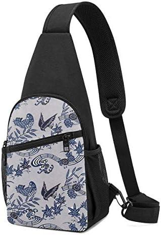 ボディ肩掛け 斜め掛け 春 花 無縫 ショルダーバッグ ワンショルダーバッグ メンズ 軽量 大容量 多機能レジャーバックパック