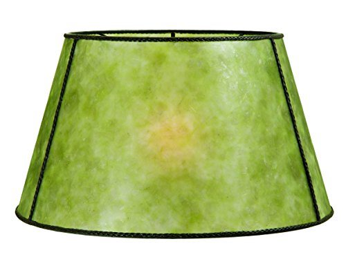 B&P Lamp Empire Style Floor Lamp Shade - (Green Mica Shade)