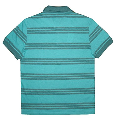 Lacoste Men's Striped Regular Fit Green Polo Shirt (Small (4))