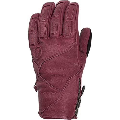 Volcom Men's Service Gore-Tex Stay Dry Leather Snow Glove, burnt red Medium