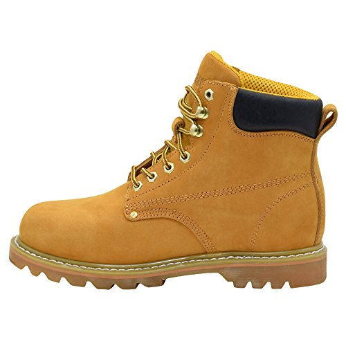 EVER BOOTS Tank Mens Soft Toe Oil Full Grain Leather Insulated Work Boots Construction Rubber Sole Tan mz3Vl