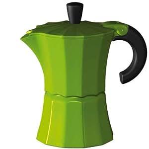 Gnali and Zani Morosina - Cafetera italiana, 6 tazas, color verde