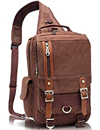 f9ba80e990b Canvas Messenger Bag Cross Body Shoulder Sling Backpack Travel Hiking Chest  Bag