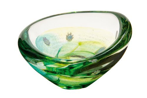 Caithness Glass Crystal Emerald Raindrops Dishes, Clear/ Green by Caithness Glass