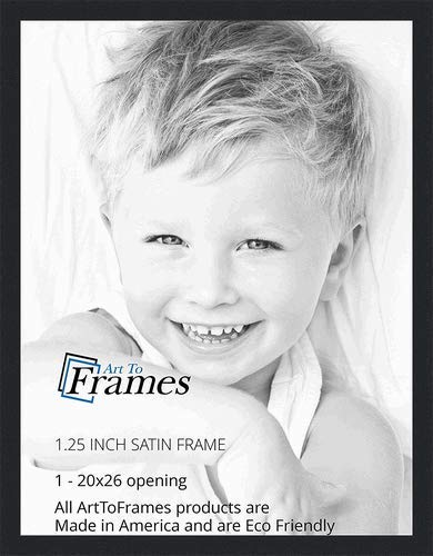 Amazon.com - ArtToFrames 20x26 inch Satin Black Picture Frame ...