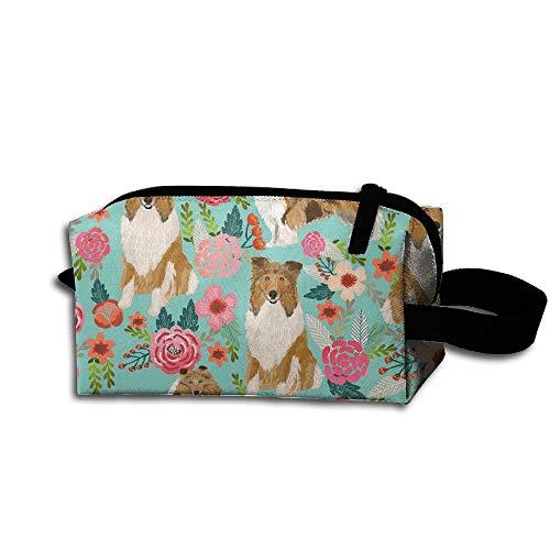 (Unisex Portable Travel Wristlets Bag Rough Collie Dog Clutch Wallets, Change Purse,Pencil Bag,Cosmetic Bag Pouch Coin Purse Zipper Change Holder Strap)