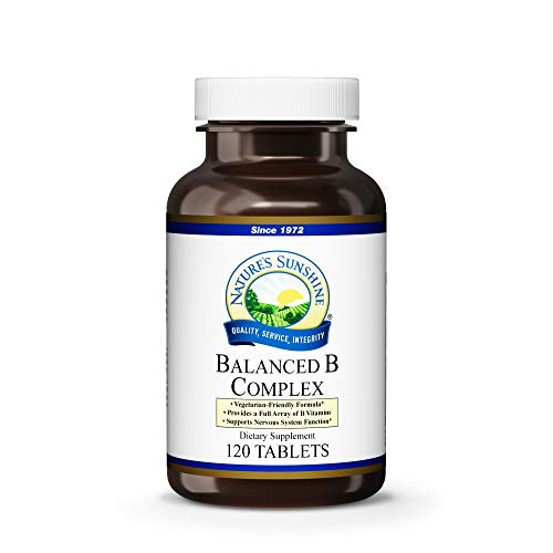 - Nature's Sunshine Balanced B Complex, 120 Tablets | B Complex Vitamins to Support Digestion and Nervous System Health with Vegetarian Formula