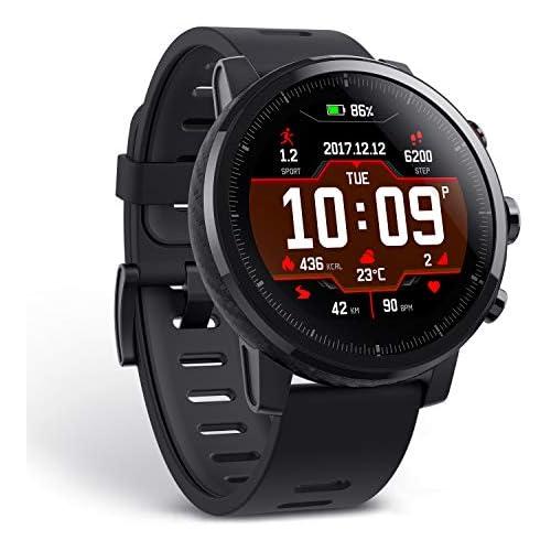 chollos oferta descuentos barato Amazfit Stratos Multisport Reloj inteligente con medición de frecuencia cardíaca actividad VO2max GPS rastreador de fitness 5 ATM resistente al agua color negro