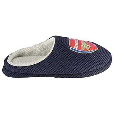 Bafiz Arsenal FC Mule Football Slippers Juniors Boys Blue Soccer Teamwear Footwear (UK3) (EU36)