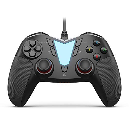 PC Steam Game Controller, IFYOO ONE Pro Wired USB Gaming Gamepad Joystick Compatible with Computer/Laptop(Windows 10/8/7/XP), Android(Phone/Tablet/TV/Box), PS3 - [Black]