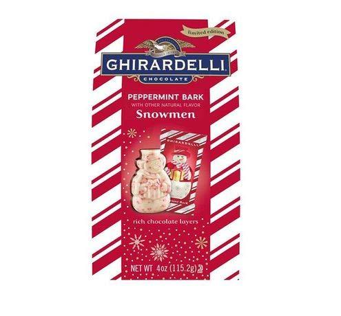 Ghirardelli Peppermint Bark Snowmen 5.7 Oz. (Pack of 1)