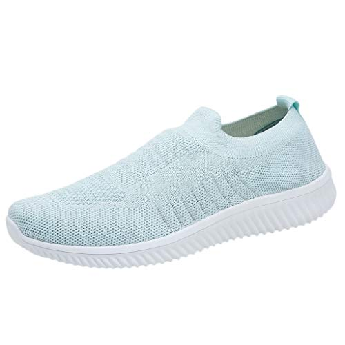 - Toimothcn Women's Mesh Sneakers Slip On Cozy Breathable Athletic Running Walking Shoes (Mint Green,US:8.5)
