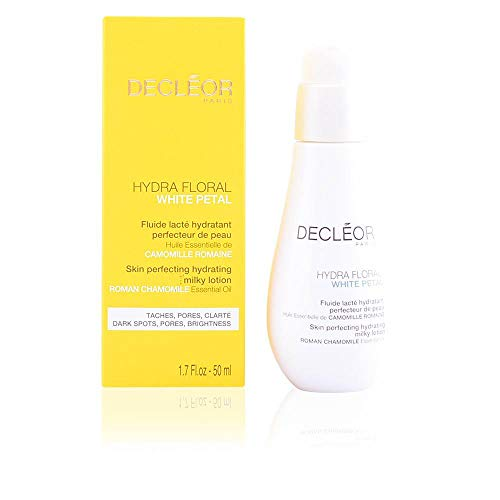 Decleor Hydra Floral White Petal Roman Chamomile Skin Perfecting Hydrating Milky Lotion, 1.7 Ounce