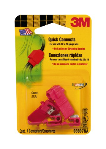 3M 03807 Electrical Connectors 4 Pack