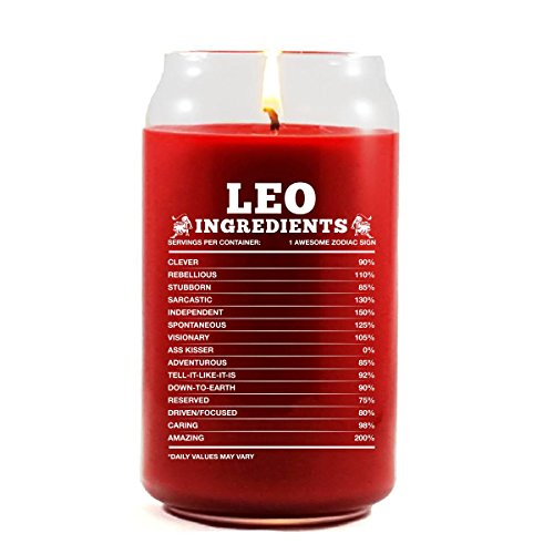 Leo Ingredients Leo Zodiac Star Sign Gift - Scented Candle