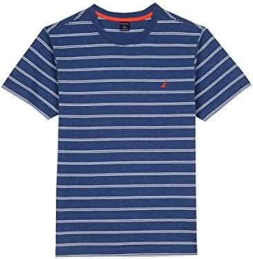 Nautica Boys' Short Sleeve Twinning Stripe Crewneck Tee