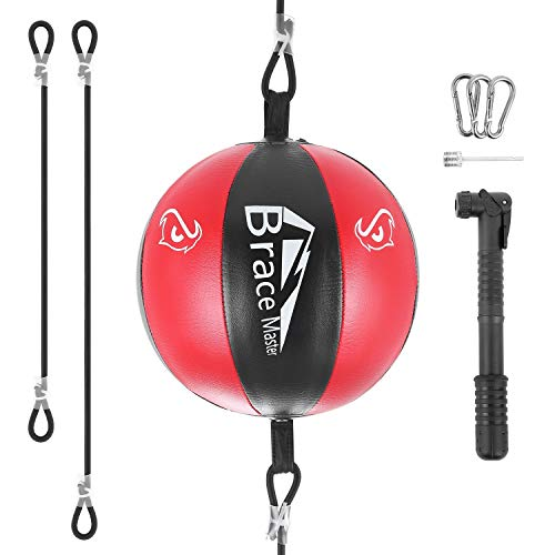 Brace Master Double-End Punching Bag Speed Bag Boxing Bag for Boxing MMA Speed Training Suit for Men & Women