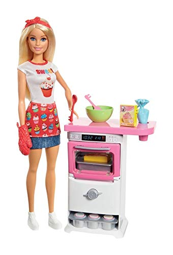Barbie Bakery Chef Doll and Playset, Blonde (Barbie Kitchen)