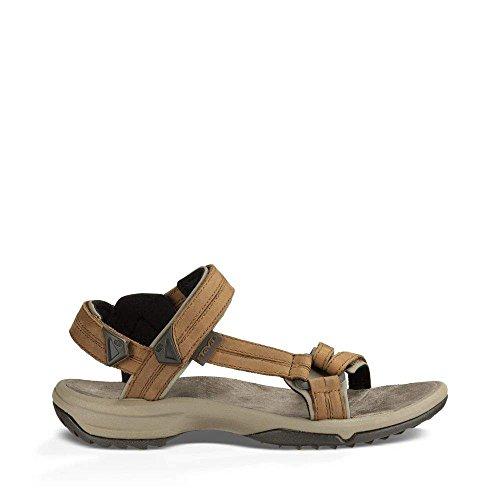 Leather Lites Brown (Teva Women's Terra FI Lite Leather Sandal, Brown, 6.5 Medium US)