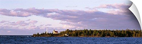 Copper Harbor Lighthouse (Canvas On Demand Wall Peel Wall Art Print entitled Lighthouse 1866 Lake Superior Copper Harbor Keweenaw Peninsula MI 60