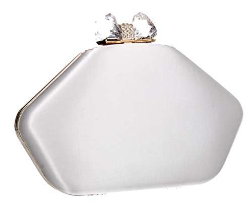 SWANKYSWANS Out Evening Purse Shape Box Party Night Wedding Ladies Prom Bag Clutch Karie Cream Celebrity r0qrZ