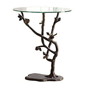 Bird And Pinecone End Table
