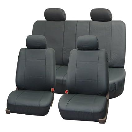 Amazon.com: FH-PU007114 Full Set Deluxe Leatherette Car Seat ...