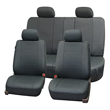 Amazon FH GROUP FH PU007114 Full Set Deluxe Leatherette Car