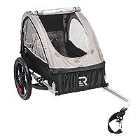 Retrospec Rover Kids Bicycle Trailer Single and Double Passenger Children