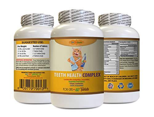 BEST PET SUPPLIES LLC cat Gum Care - Teeth Health COMPEX for Cats - Clean Healthy Gums Mouth Teeth - VETS Favorite Formula - cat Vitamin d - 60 Treats (1 Bottle)