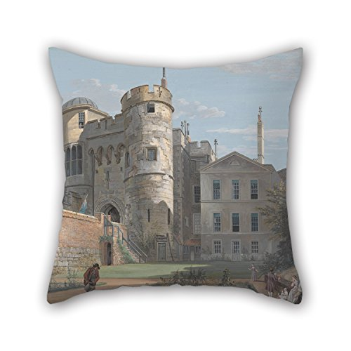 16 X 16 Inches / 40 By 40 Cm Oil Painting Paul Sandby - The Norman Gate And Deputy Governor's House Pillow Shams ,two Sides Ornament And Gift To Birthday,indoor,saloon,bench,lover,gril (How To Make A Saloon Girl Costume)